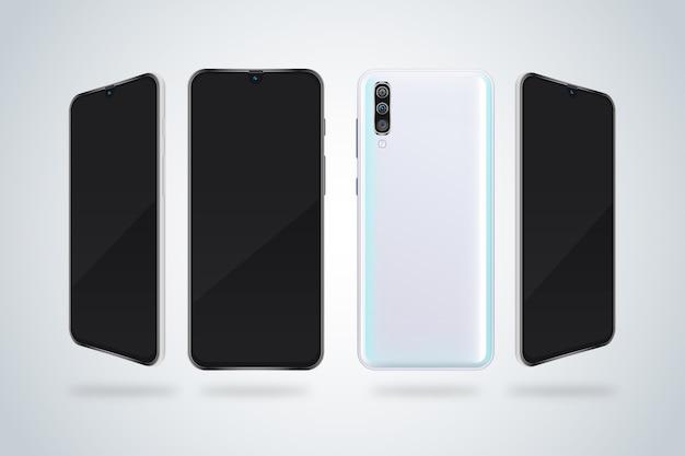 Vista panorâmica de smartphones