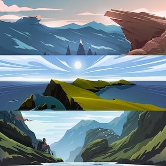 Vista para as montanhas.