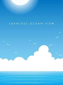 Vista perfeita do oceano em vetor