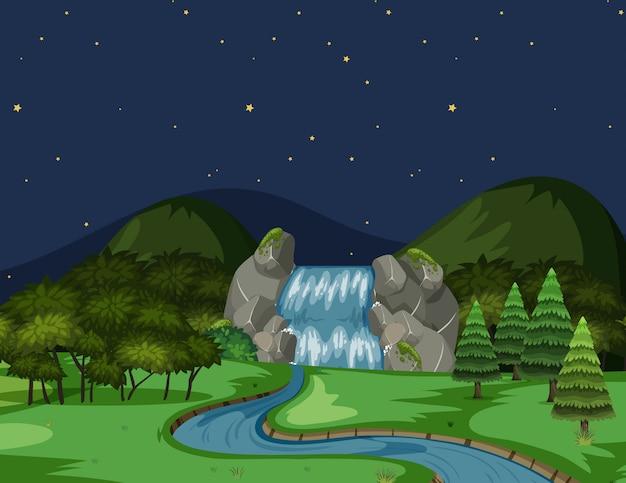 Vista rio, à noite