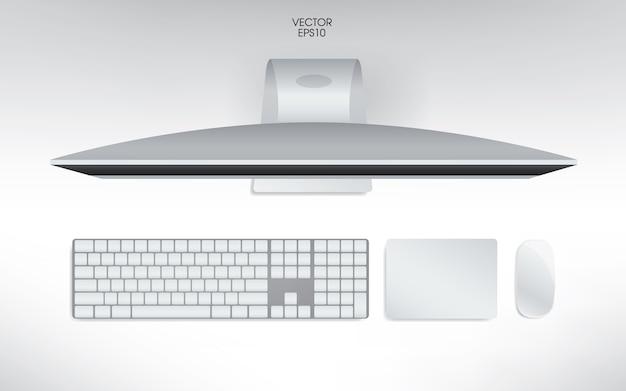 Vista superior da ilustração do computador