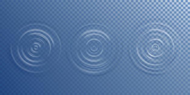 Vista superior da ondulação da água superfície da água do círculo da queda