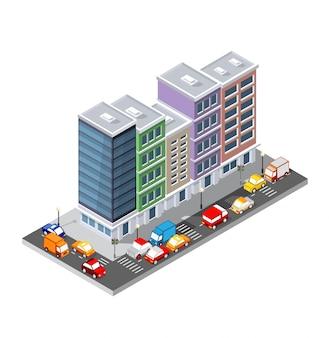 Vista superior de transporte da estrada