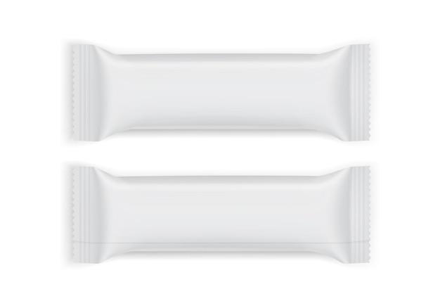 Vista superior e inferior da embalagem do papel branco isolada no fundo branco