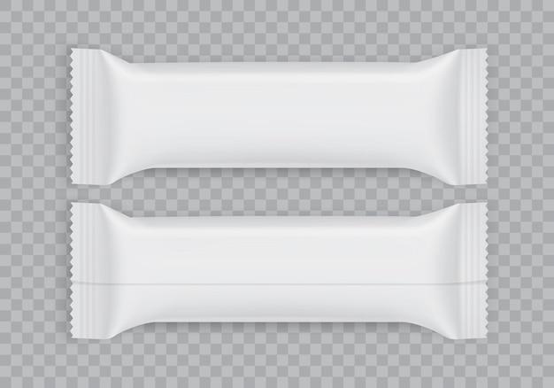 Vista superior e inferior da embalagem do papel branco