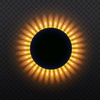 Vista superior na ilustração de queimadores de gás