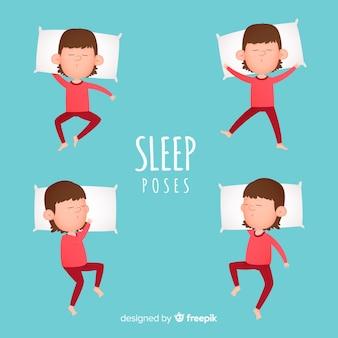 Vista superior pessoa dormindo na cama
