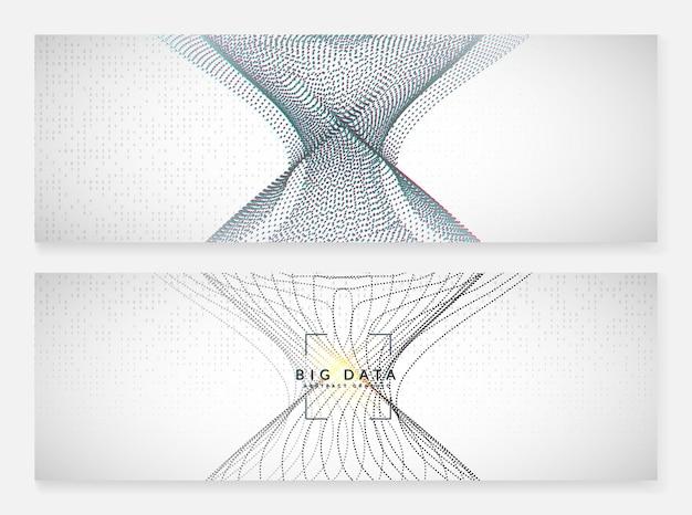 Visuais de tecnologia abstratos. fundo de tecnologia digital. inteligência artificial, aprendizado profundo e conceito de big data para modelo de energia. cenário de visuais de tecnologia abstrata fractal.