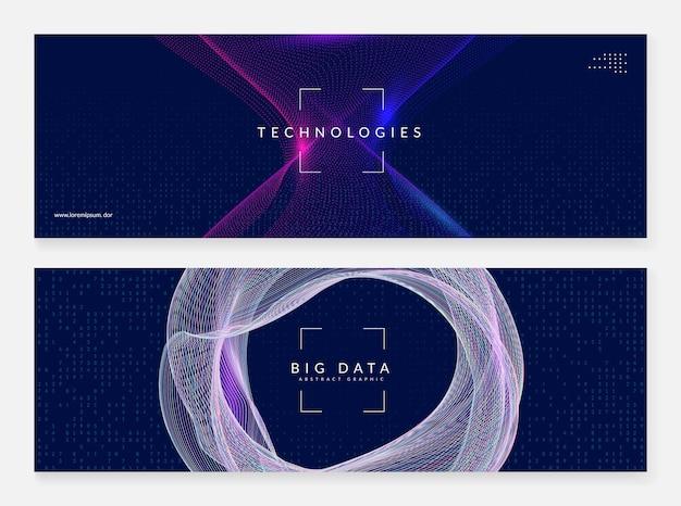 Visuais de tecnologia abstratos