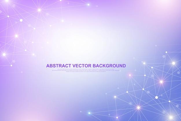 Visualização abstrata de big data. gráfico de threads de dados complexos. gráficos abstratos. futurista