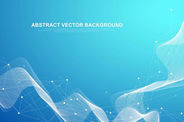 Visualização abstrata de big data. gráfico de threads de dados complexos. gráficos abstratos. infográfico futurista ilustração