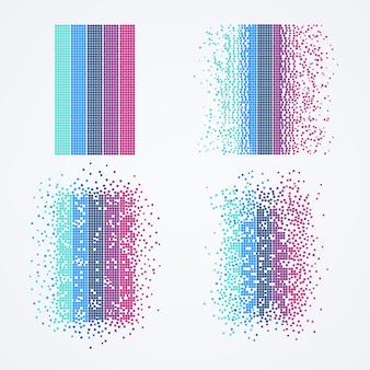 Visualização de big data. algoritmo de computador de tecnologia