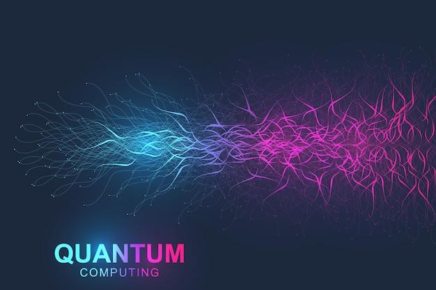 Visualização de big data de tecnologia de computação quântica