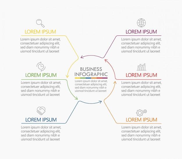Visualização de dados corporativos. modelo de cronograma infográfico