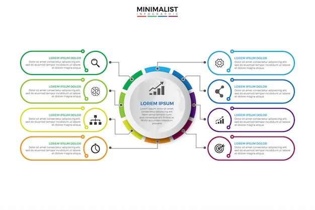 Visualização de dados corporativos.