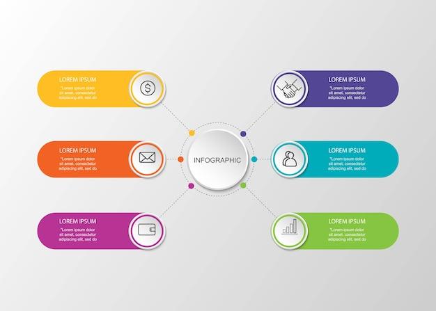 Visualização de dados de negócios conceito criativo para infográfico