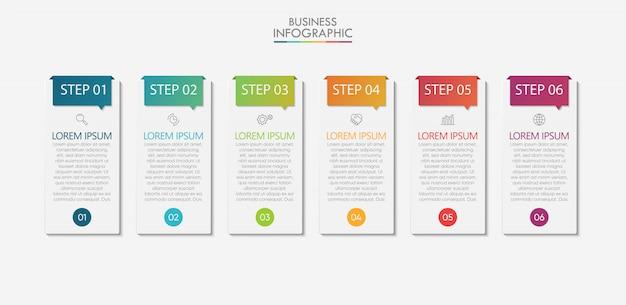 Visualização de dados de negócios. cronograma infográfico ícones