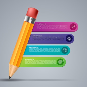 Visualização de dados de negócios. gráfico de processo. elementos abstratos de gráfico, diagrama com etapas, opções, partes ou processos. modelo de negócios de vetor para apresentação. conceito criativo para infográfico.