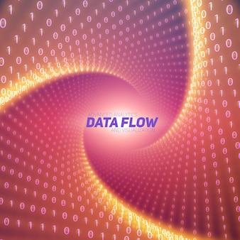 Visualização do fluxo de dados vetoriais