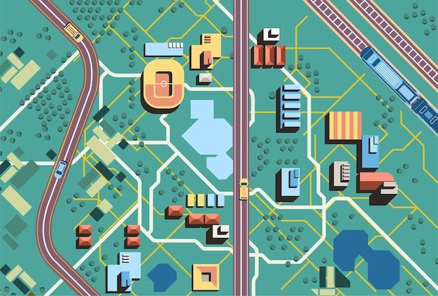 Visualização do trânsito na cidade - ilustração do céu