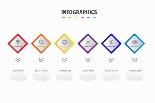 Visualize infográficos de dados de negócios