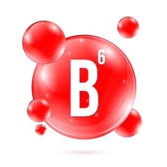 Vitamina b6. cápsula do comprimido da gota do mineral da piridoxina.