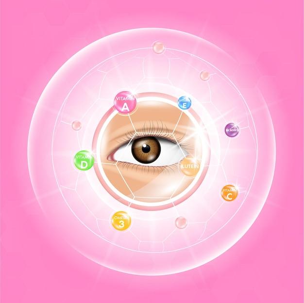 Vitaminas luteína e alimentos ômega 3 para uma boa visão e olhos saudáveis