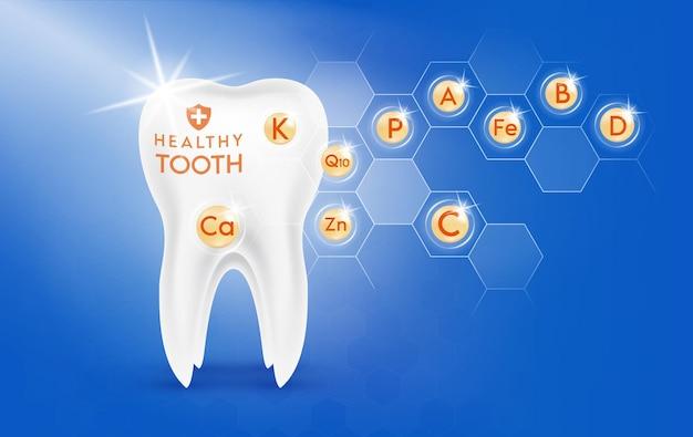 Vitaminas mineral ouro cápsula do comprimido em gotas nutrientes essenciais para a saúde dos ossos e dentes