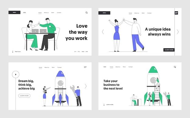 Vitória, conjunto de páginas de destino do site de lançamento de startups