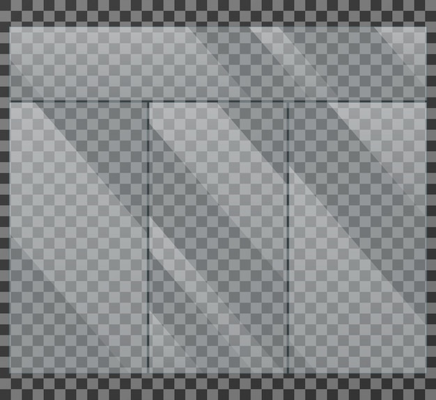 Vitrine cristalina janela isolado ilustração vetorial