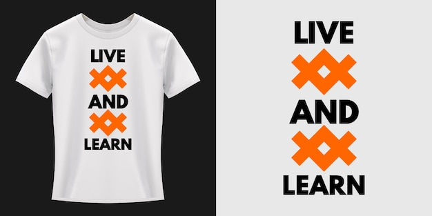 Viva e aprenda o design de camisetas de tipografia
