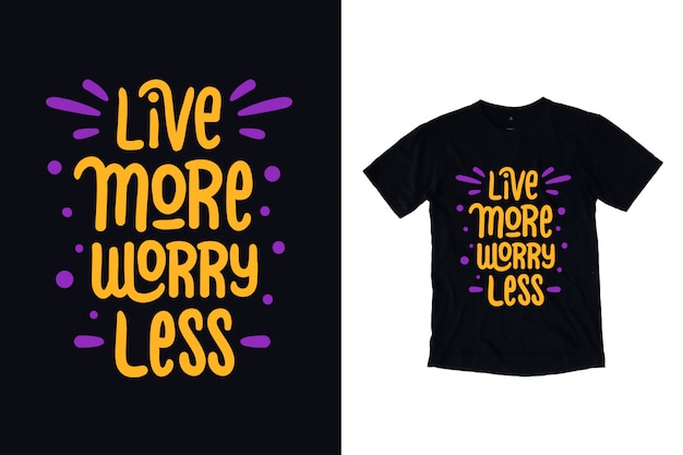 Viva mais se preocupe menos tipografia