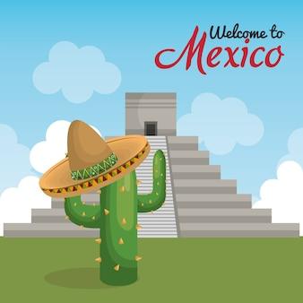 Viva méxico cartaz ícone