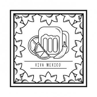 Viva o cartão tradicional de méxico