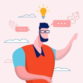Vlog online content idea ilustração vetorial plana