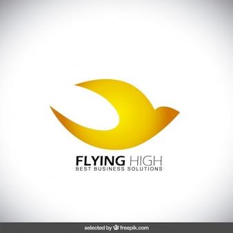 Voando logotipo abstrato pássaro