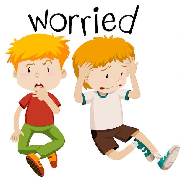 Vocabulário inglês de preocupado