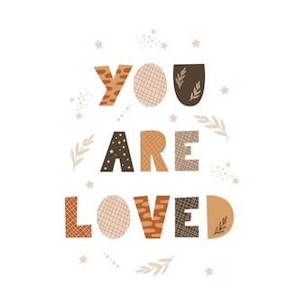 Você é amado - design de tipografia.