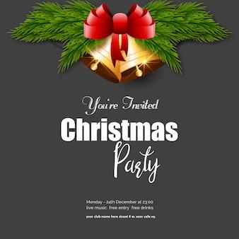 Você é convidado para a festa de natal jingle bell background