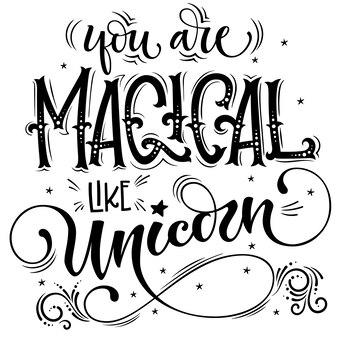 Você é mágico como unicórnio, letras
