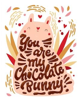 Você é meu coelho de chocolate