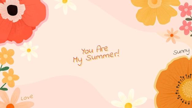 Você é meu design de verão