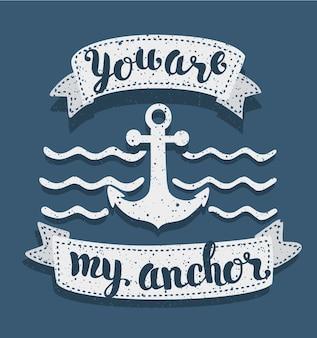 Você é minha âncora declaração de amor