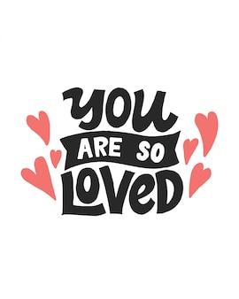 Você é tão amado lettering