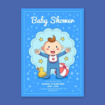 Você está convidado para o chá de bebê para menino com pato de borracha
