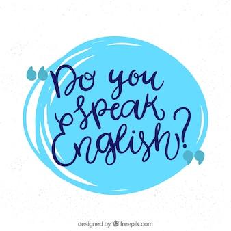 Você fala inglês conceito
