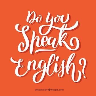 Você fala inglês letras de fundo