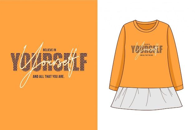 Você mesmo - gráfico camiseta