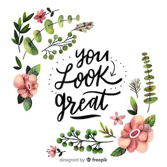 Você parece ótimo
