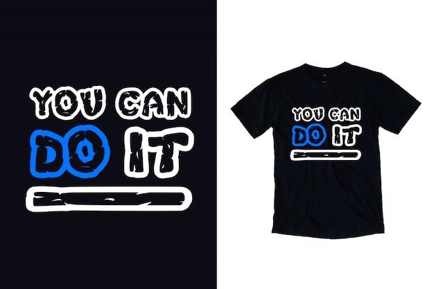 Você pode fazer isso tipografia para design de camiseta